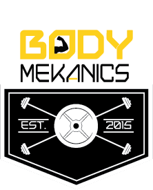 body mekanics badge wht yellow